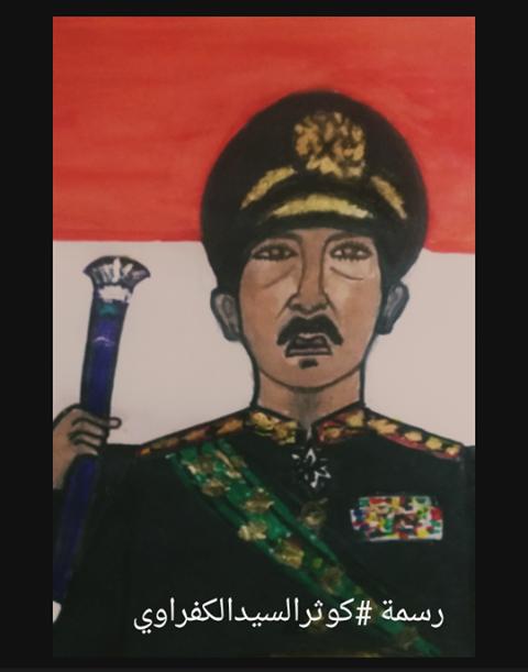 بمناسبةنصر أكتوبر 73 -كوثر السيد الكفراوي ترسم صورة السادات والفنانة زبيدة ثروت 2